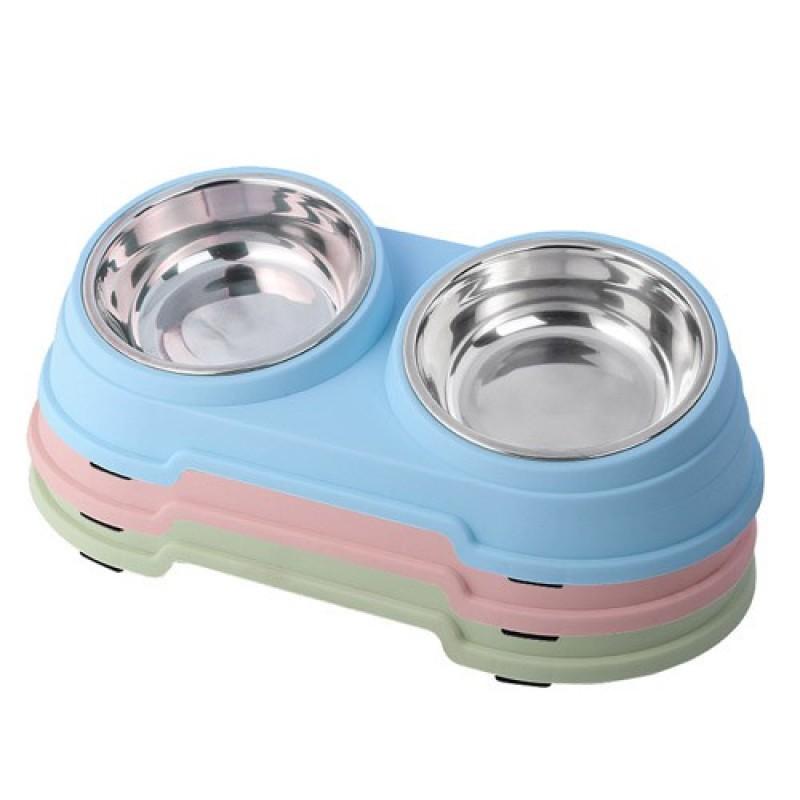 Chén ăn (khay ăn) đôi inox cho chó mèo - có hộp, cam kết hàng đúng mô tả, chất lượng đảm bảo, an toàn đến sức khỏe