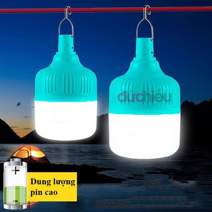 Coupon Khuyến Mại [ Nhỏ Gọn - Sáng Mạnh ] Bóng đèn Tích điện 30w, Bóng đèn LED Sạc Tích điện, đèn Sạc