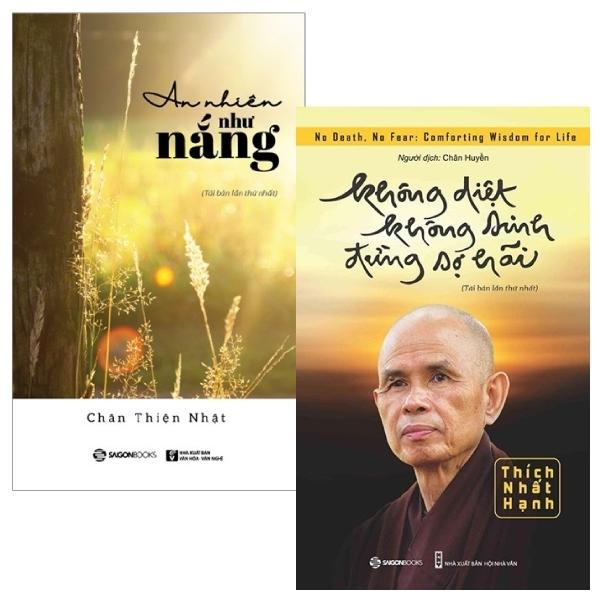 Mua Fahasa - Combo Sách Hay Không Diệt Không Sinh Đừng Sợ Hãi + An Nhiên Như Nắng (Bộ 2 Cuốn)