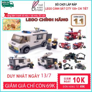 Lego đồ chơi, Lego cảnh sát bắt tội phạm, đồ chơi xếp hình cho bé. thumbnail