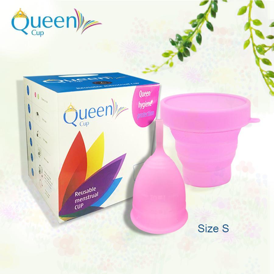 Cốc Nguyệt San Queen Cup (Size S) + Tặng thêm cốc tiệt trùng(50)