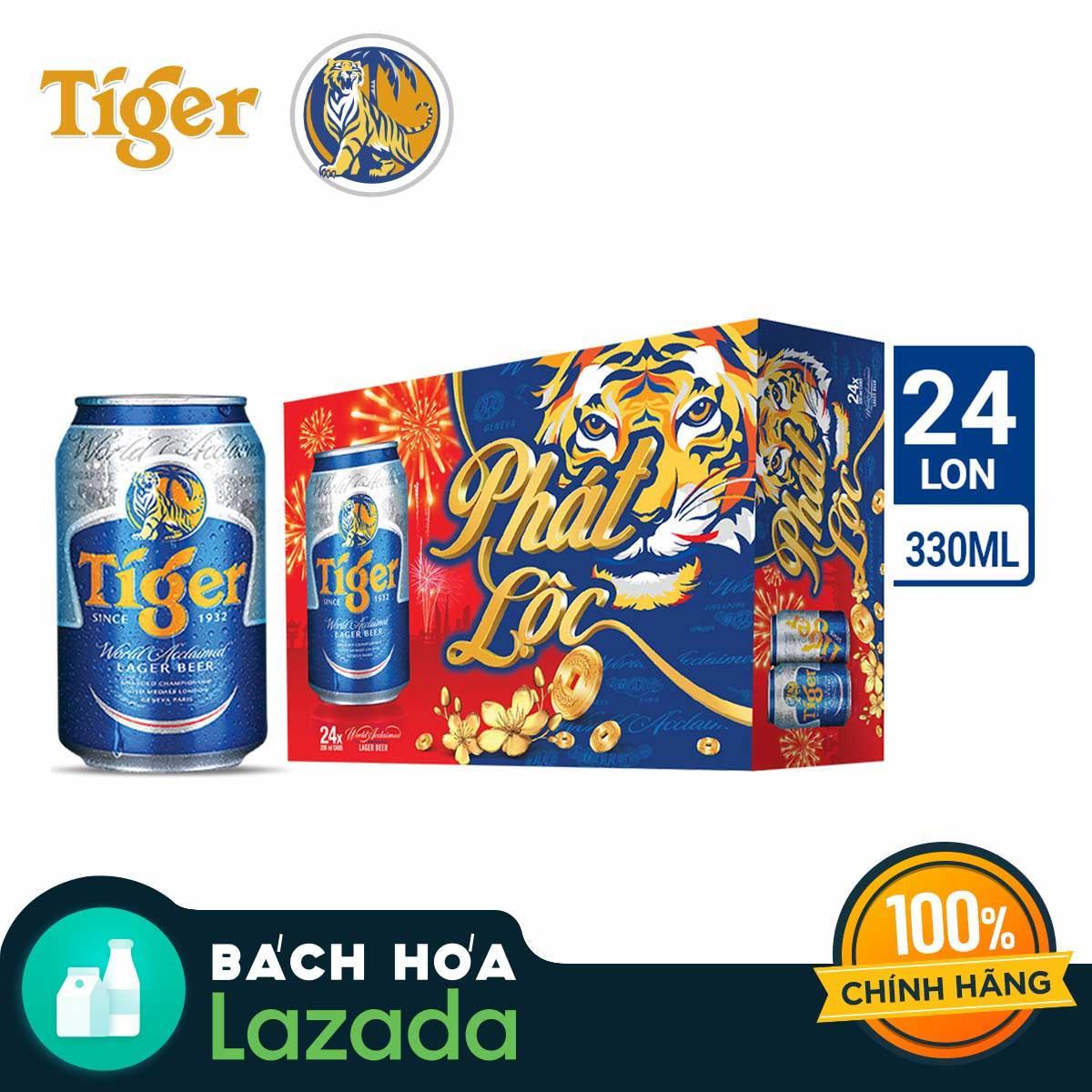 Thùng Bia 24 Lon Tiger 330ml Bao Bì Tết Bất Ngờ Ưu Đãi Giá