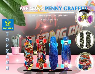 Ván Trượt Nhựa Penny Graffiti Cao Cấp in họa tiết Graffiti 2 mặt cực cool - 3142SY thumbnail