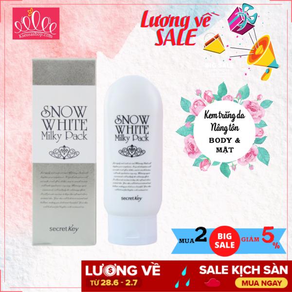 Kem Dưỡng Trắng Toàn Thân Secret Key Snow White Milky Pack 200g