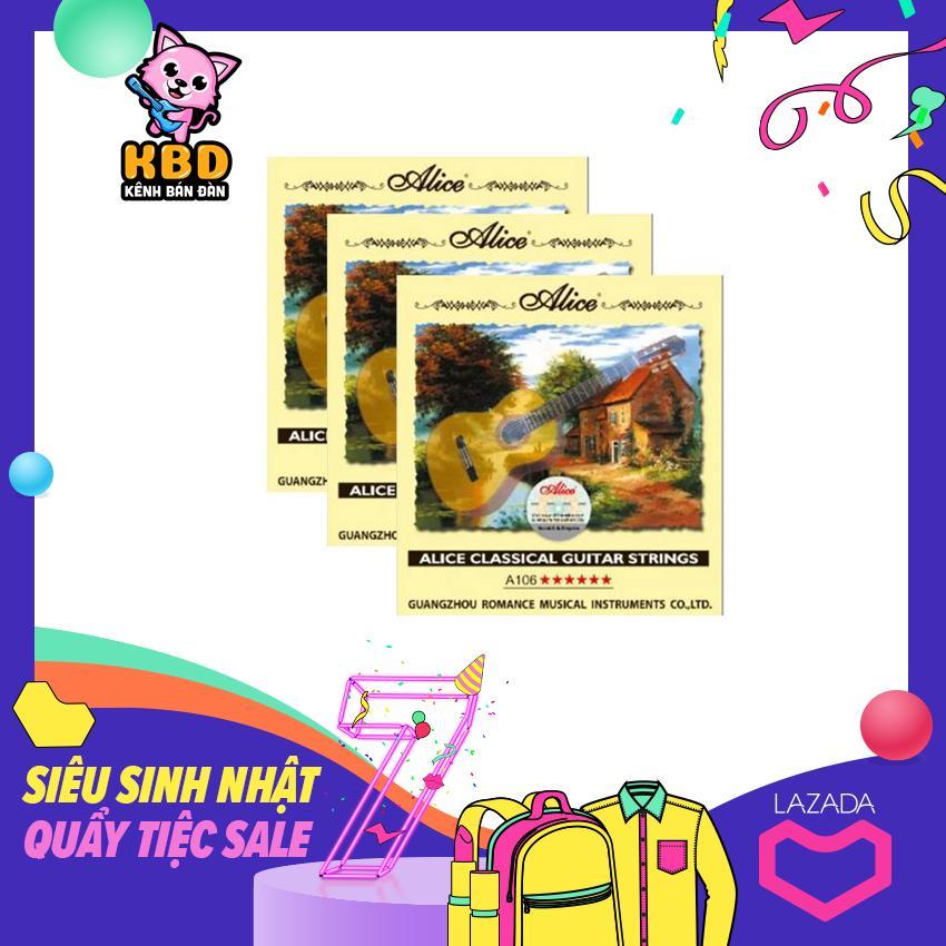Bộ 6 dây đàn ghi-ta Classic-Alice A106 xịn Nhật Bản