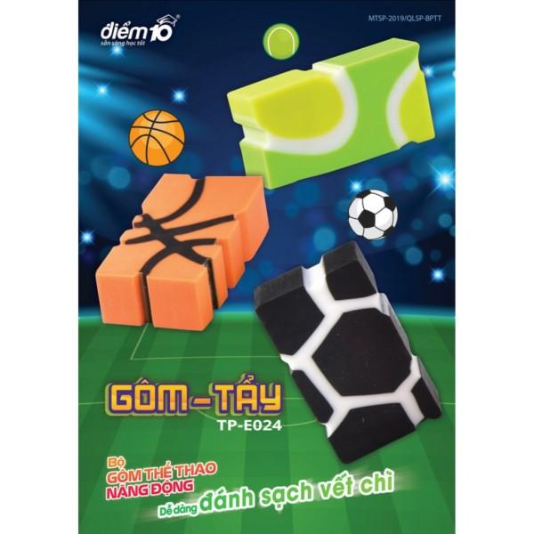 Mua Gôm/tẩy hình bóng đá điểm 10 TP-E024 (vỉ 1 cục) cam kết hàng đúng mô tả chất lượng đảm bảo không chứa hóa chất độc hại an toàn cho trẻ em