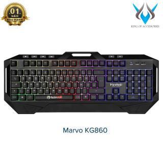 [HCM]Bàn phím giả cơ Marvo KG860 dành cho game thủ led đa màu - hỗ trợ 6 phím multimedia - Phụ Kiện 1986 thumbnail