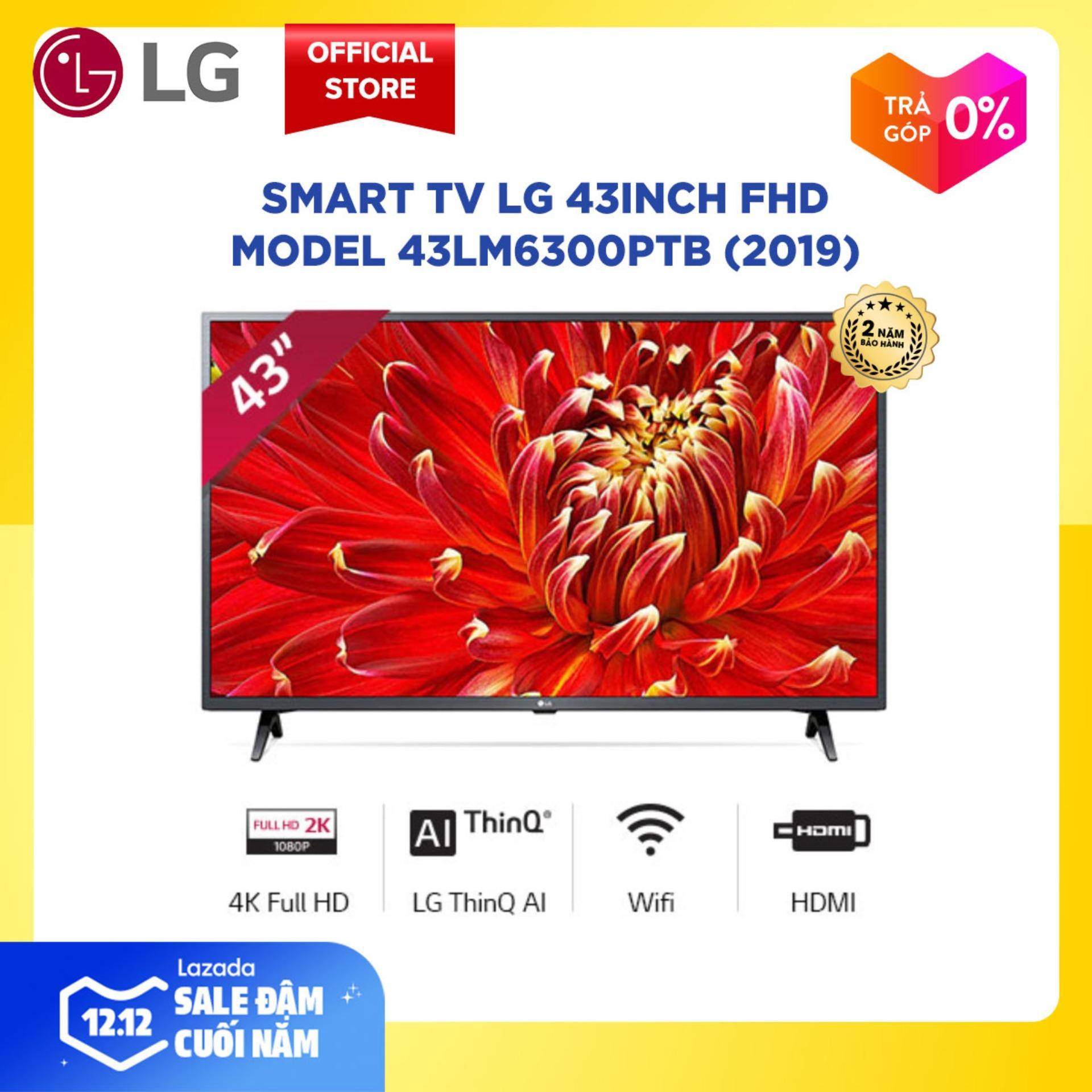 Smart TV LG 43inch FHD - Model 43LM6300PTB (2019) Chip Xử Lý Quad Core, Active HDR, Công Nghệ Dolby Audio  - Hãng Phân Phối Chính Thức Đang Có Khuyến Mãi