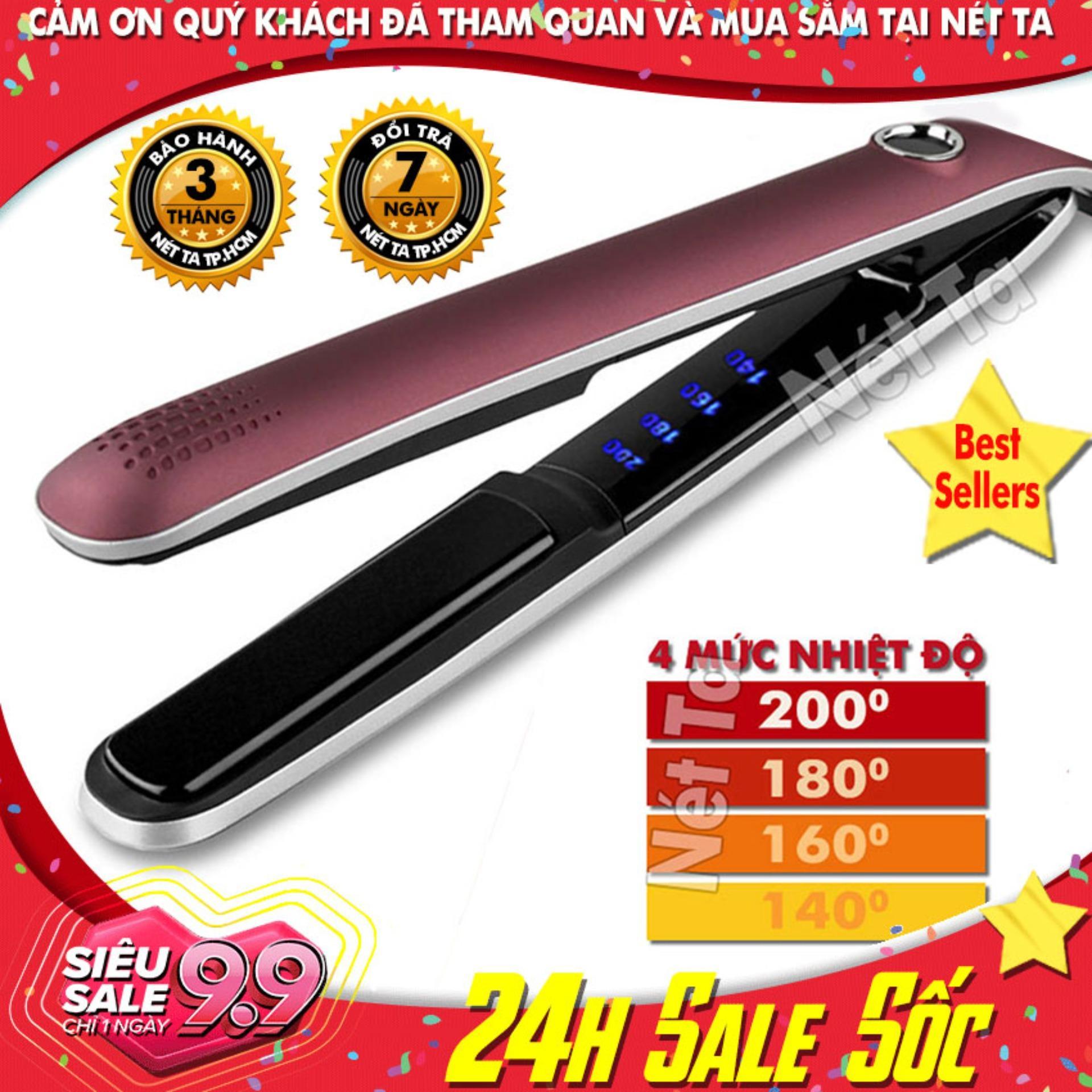 Máy duỗi tóc điều chỉnh nhiệt Kemei KM-2203 chuyên nghiệp có thể dùng để uốn lọn, uốn cụp, là thẳng tóc Nét Ta - Hãng phân phối chính thức tốt nhất
