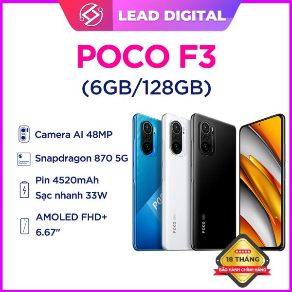 Điện Thoại POCO F3 5G - Hàng Chính Hãng l SNAP 870 l 4520 mAh l 6.67 Inch AMOLED l Camera selfie 20 MP - BH 18 Tháng