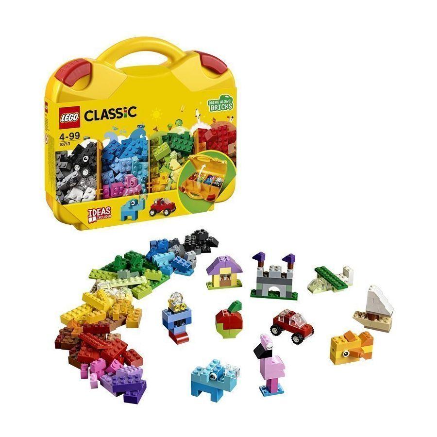 Offer tại Lazada cho Đồ Chơi Xếp Hình Thùng Gạch Vali Sáng Tạo LEGO Classic 10713 (213 Chi Tiết)