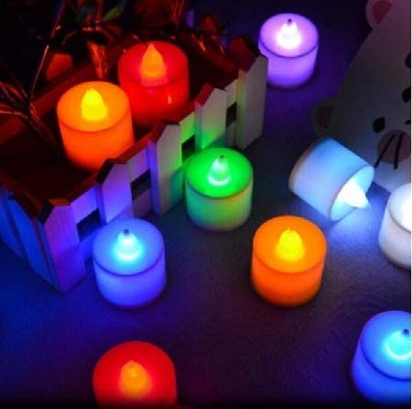 Bảng giá (Chọn Màu) 1 Cây Đèn Led Nến Điện Tử Mini Xài Pin Dùng Tỏ Tình Trang Trí Cưới Hỏi Lễ Tiệc Candle Tealight