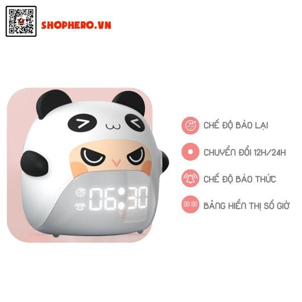 Nơi bán Đồng hồ báo thức kết hợp đèn ngủ nhân vật Gấu Panda