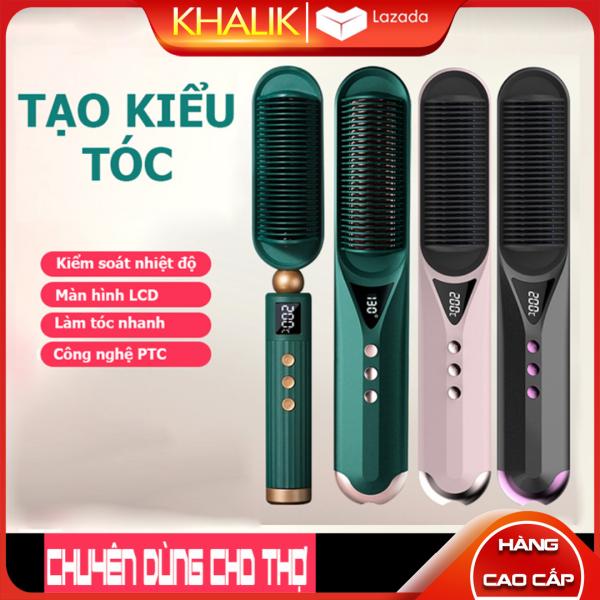 [Hàng cao cấp] Lược điện, máy sấy tóc, làm tóc đa năng, máy duỗi uốn tóc dùng điện công nghệ PTC ion âm ổn định nhiệt giá rẻ