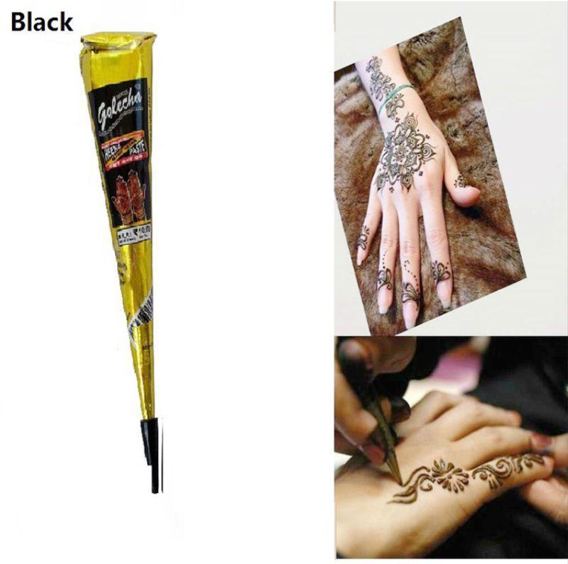MỰC VẼ  HENNA TATTOO ẤN ĐỘ - golecha - bút vẽ henna chính hãng