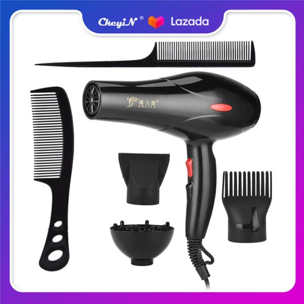 Ckeyin Máy sấy tóc chuyên nghiệp công suất 2200W với 3 tốc độ nhiệt và 2 tốc độ gió mạnh có ion âm làm khô nhanh giá siêu tốt CF016H