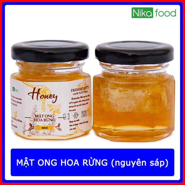 Nikafood Mật ong hoa rừng nguyên sáp 50ml