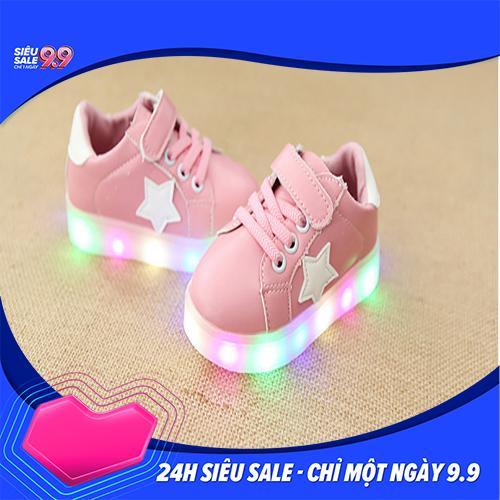 Giá bán Giày bé gái - giay be gai - giày cho bé gái - giay cho be gai - giày trẻ em - giay the thao cho be gai - giày thể thao cho bé gái - giay dep tre em - giày phát sáng trẻ em - Giày thể thao màu hồng cho bé gái có đèn led