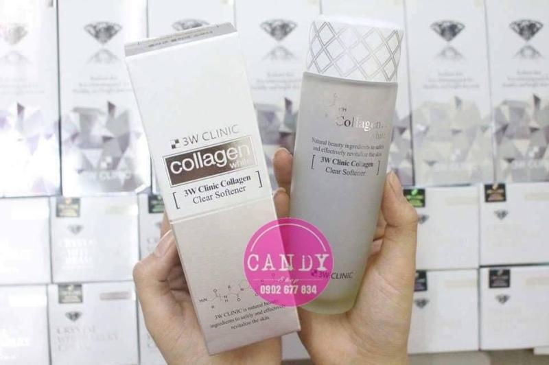 Nước hoa hồng dưỡng trắng, tái tạo da 3W Clinic Collagen White Clear Softener cao cấp