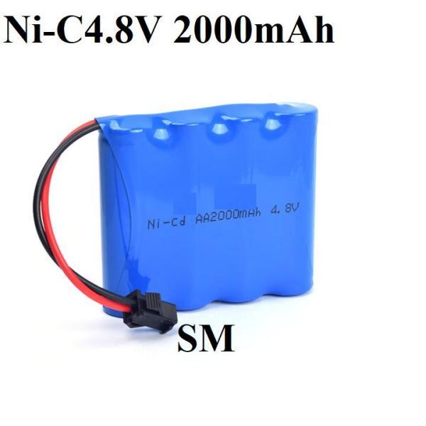 Pin Ni-cd 4.8v 2000 cổng nối SM dùng cho xe mô hình điều khiển