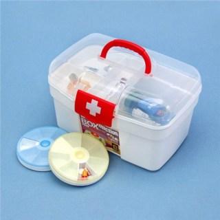 [HCM]Hộp đựng dụng cụ y tế gia đình làm bằng nhựa cao cấp trong suốt dễ dàng làm vệ sinh sạch sẽ khi bị bẩn thumbnail