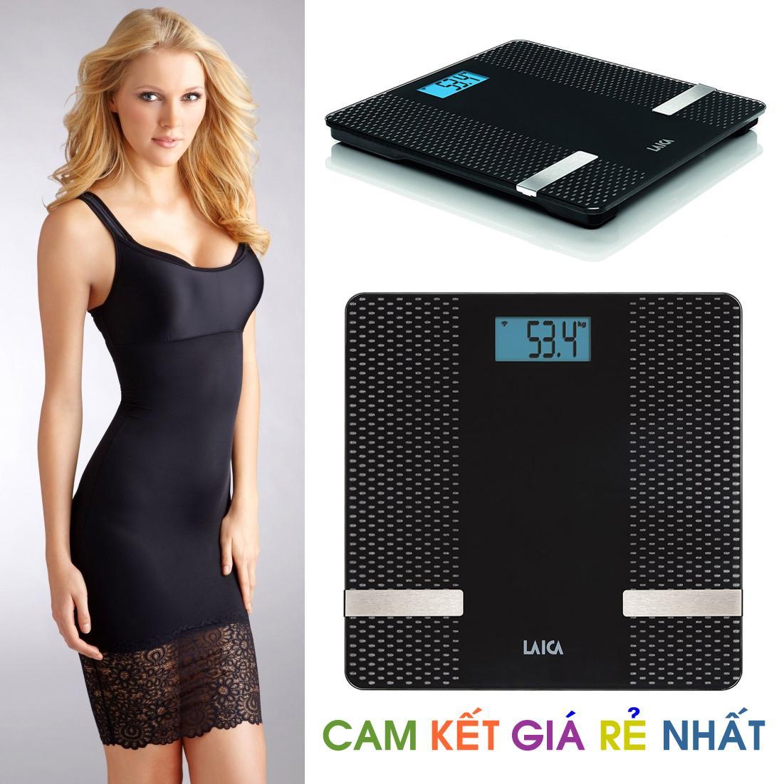 Cân BMI đo tỷ lệ Mỡ/Nước/Cơ/Kcal kết nối Bluetooth LAICA PS7002 (ITALY) chính hãng