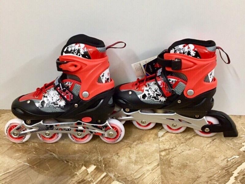 Phân phối [ĐẠI HẠ GIÁ] Giày Trượt Patin cao cấp Longfeng 906 có đèn 4 bánh Màu xanh, màu đỏ, màu đen, màu hồng ...