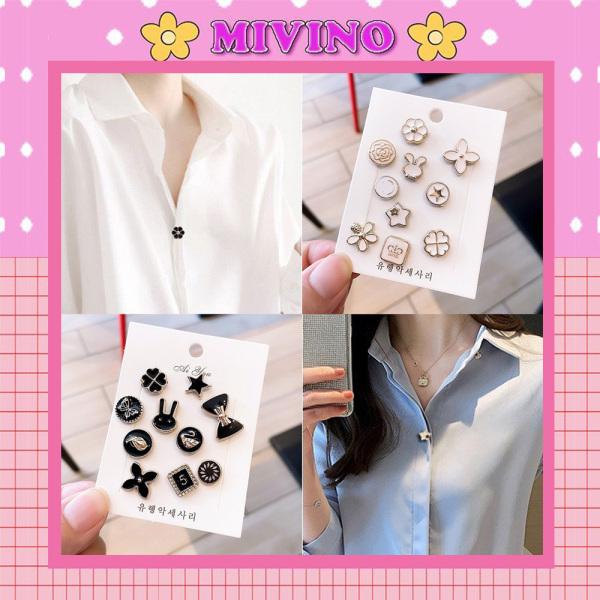 Set 10 ghim áo quần mini thiết kế hình hạt xinh xắn PK8