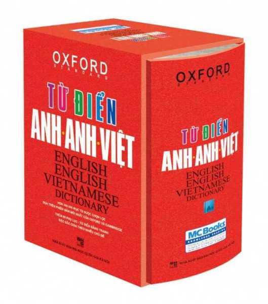 Sách Từ Điển Oxford Anh - Anh - Việt (Bìa Vàng + Đỏ) - Bìa Đỏ - Hộp Cứng