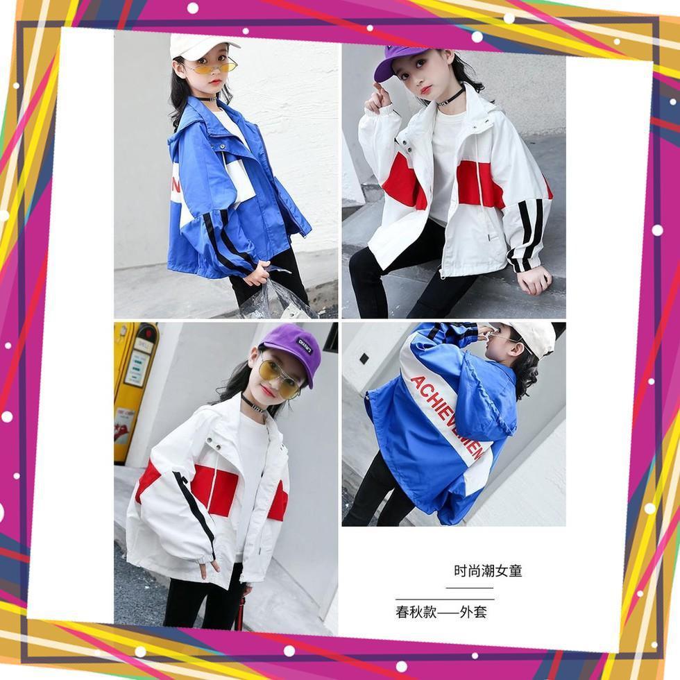 Giá bán áo khoác cho bé, áo khoác gió trẻ em Unisex từ 5 đến 14 tuổi M854