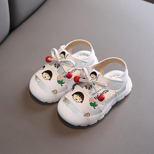 Giá bán Dép sandal trẻ em họa tiết hoạt hình đầu rọ bảo vệ ngón chân đế cao su êm mềm