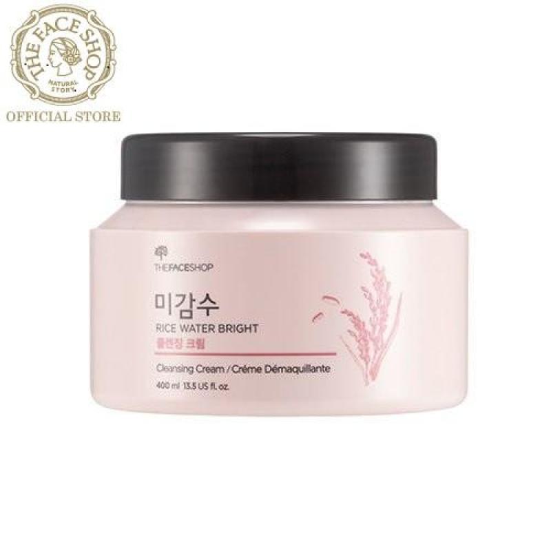 THEFACESHOP - Kem Tẩy Trang Làm Sáng Da Rice Water Bright Cleansing Cream 400ML nhập khẩu
