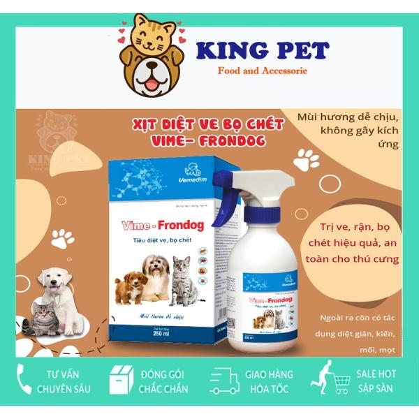 Thuốc Diệt Ve Rận Bọ Chét Chó Mèo An Toàn Hiệu Quả Cho Cả Chó Mèo Mang Thai Vime Frondog 250ml