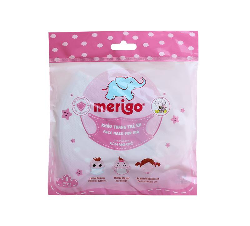 Khẩu trang trẻ em Merigo (màu xanh)