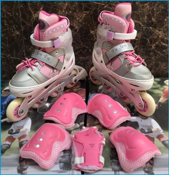 Giá bán Giầy Patin Phát Sáng Cao Cấp - Tặng 1 bộ bảo vệ chân tay