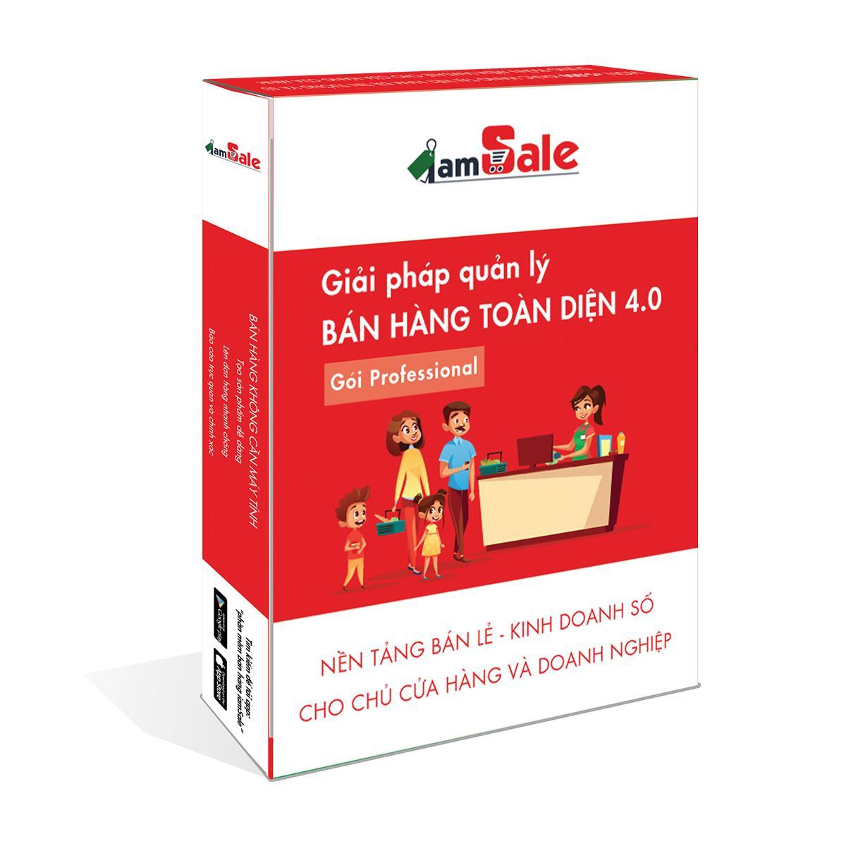 Phần mềm quản lý bán hàng toàn diện iamSale gói Professional 1 năm