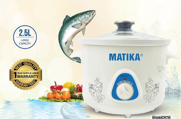 Nồi hầm chậm (kho cá) Matika MTK-9125