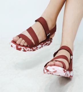 Giày Sandal Saado - Hồng mận CL06, Giày Saado Hồng Mận Nữ, Giày Đi Học Nữ thumbnail