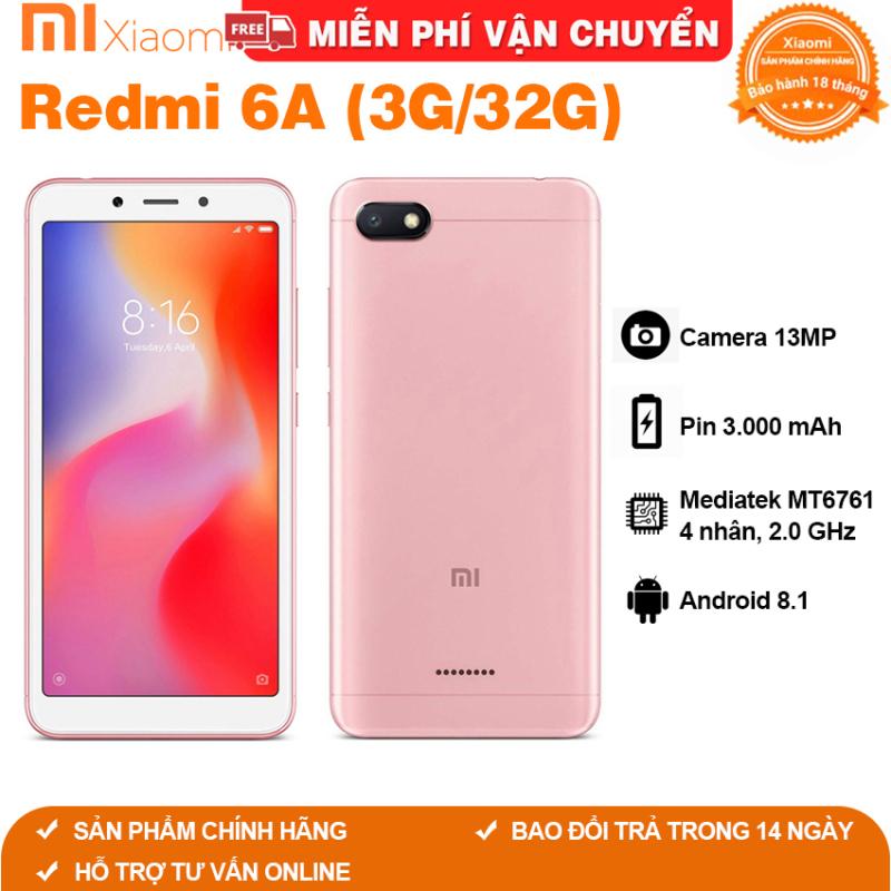Điện thoại Xiaomi Redmi 6 6A Ram 3GB bộ nhớ 32G Ram 2GB bộ nhớ 16G cảm biến vân tay chơi game mượt pubg liên minh Free fire fifa, có tiếng Việt, bảo hành 12 tháng