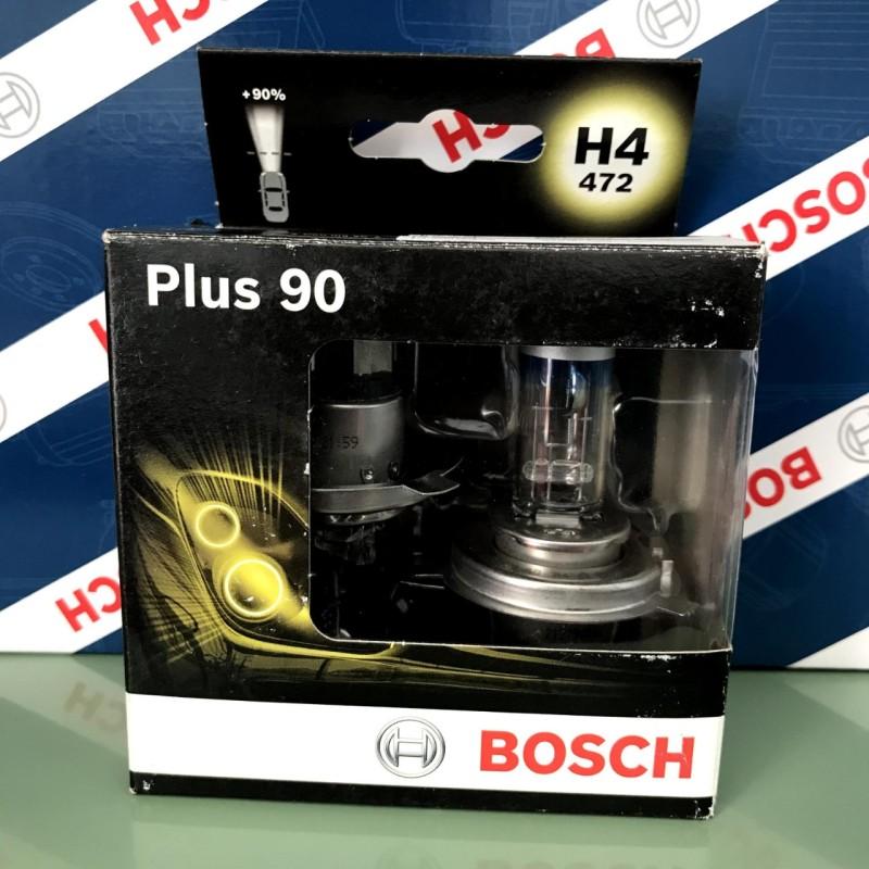 Bóng Đèn Tăng Sáng Bosch Plus 90 ( Hộp 2 Bóng ) H4 12V 60/55W Plus 90% - Đèn Cốt , Đèn Pha .