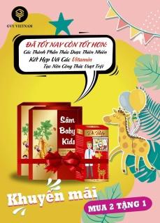 (Hàng Chính Hãng) SÂM BABY KIDS-MUA COMBO 2 HỘP SÂM +TẶNG 1 DR BABY TRỊ GIÁ 260K thumbnail