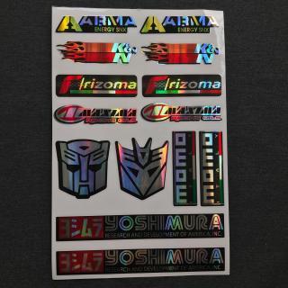 Tem logo mạ crom YOSHIMURA cho xe máy. thumbnail