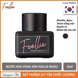 Nước Hoa Vùng Kín Hương Thơm Nồng Nàn, Mãnh Liệt Foellie Eau De Inner Beauty Perfume Bijou 5ml (Chai Đen - Best Seller) thumbnail