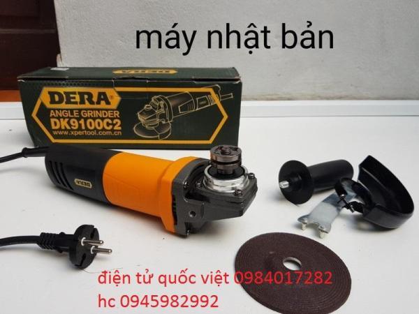 Máy mài, máy cắt cầm tay DERA 650W .Công suất 650W Tốc độ11000r/minØ100mm xuất xứ;công nghệ Nhật Bản