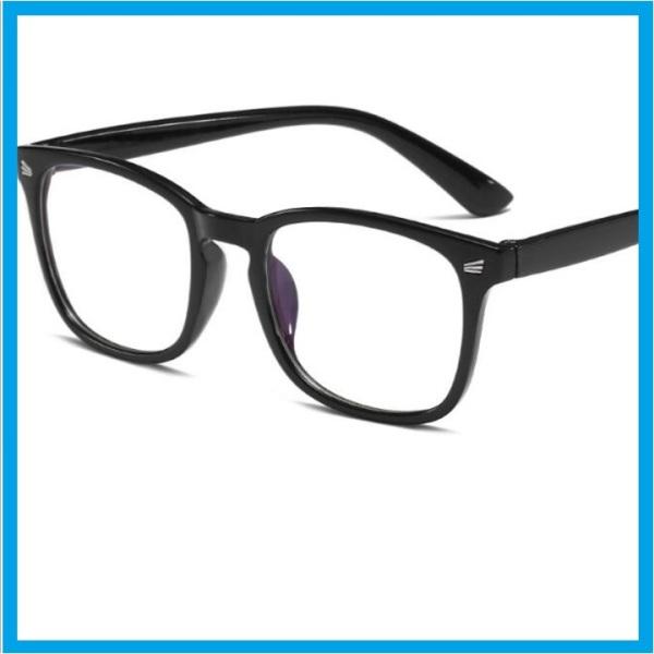 Giá bán [XẢ KHO]- Mắt kính giả cận, gọng đen sáng bóng, tròng kính 0 độ - phù hợp hầu hết các khuôn mặt - dành cho cả nam và nữ