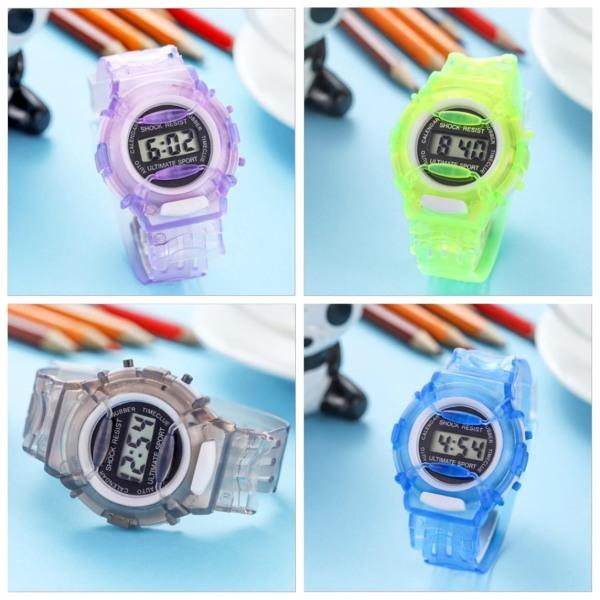 Giá bán (New) Đồng hồ nữ điện tử dây nhựa dẻo 5 màu sinh động
