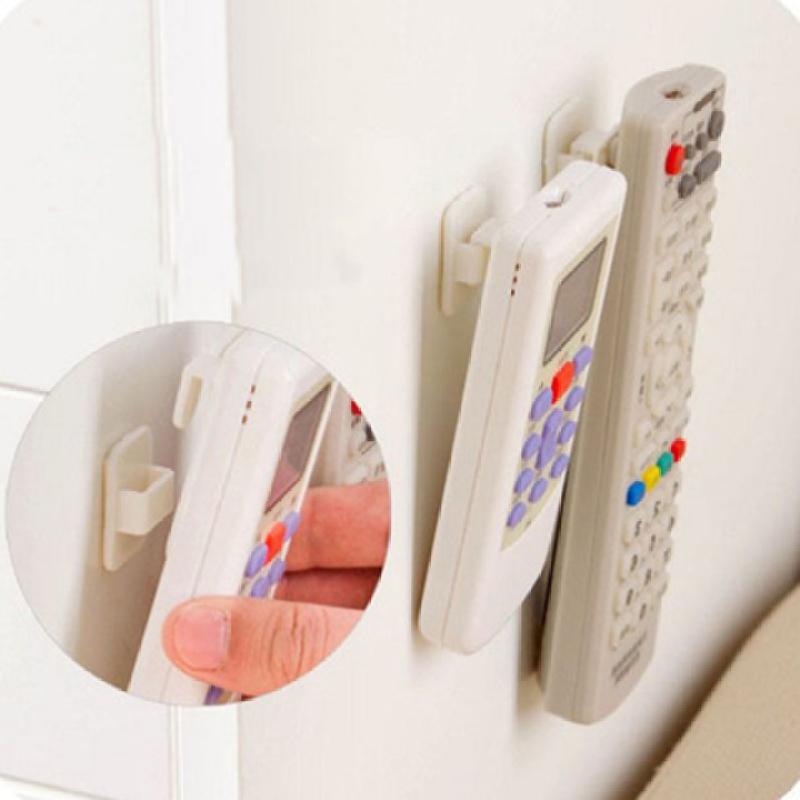Bộ 4 dụng cụ treo điều khiển đa năng tiện lợi cho gia đình | Set 2 móc và 2 giá gài Móc dán tường để điều khiển siêu chắc