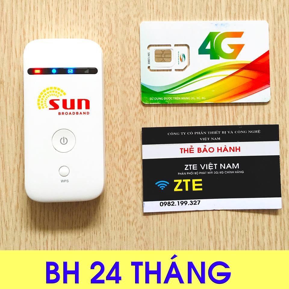 [Tặng Siêu Sim 4G 120GB-Tháng]-Bộ phát sóng wifi từ sim 3G/4G ZTE MF65 - Chất Lượng Nhật Bản -