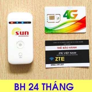 Cục phát wifi 3G 4G LTE, SUN ZTE MF65 - KHÔNG DÂY - ĐA MẠNG - PIN BỀN - Bảo hành 12 tháng từ MƯỜNG THANH ROYAL thumbnail