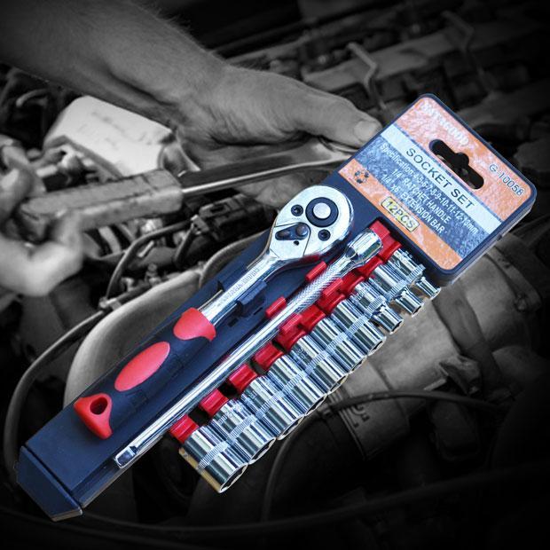 Bộ dụng cụ sửa chữa ôtô, xe máy 12pcs 1/4inch Satagood G-10058
